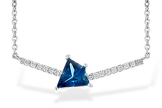 A217-34014: NECK .87 LONDON BLUE TOPAZ .95 TGW