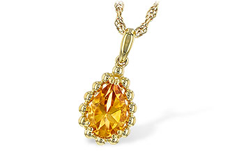F216-40432: NECKLACE 1.06 CT CITRINE