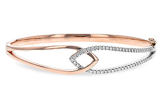 H216-44077: BANGLE BRACELET .50 TW (ROSE & WG)