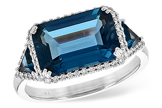 K217-29495: LDS RG 4.60 TW LONDON BLUE TOPAZ 4.82 TGW