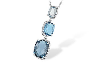 M215-52240: NECK 8.71 BLUE TOPAZ 8.89 TGW