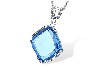M216-38613: NECK 14.75 BLUE TOPAZ 14.90 TGW